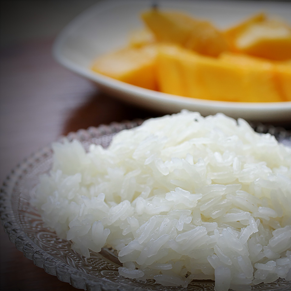 Sticky rice thai mango sweet.