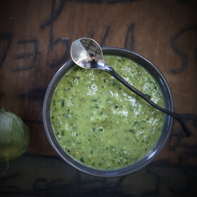 Tomatillo Sauce Sqaure